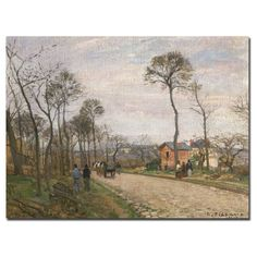 The Road from Louveciennes, 1870 by Camille Pissarro Painting Print on Canvas