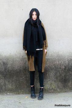 draped scarf
