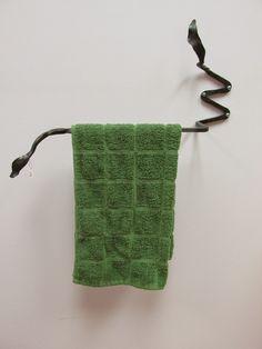 Towel Rack by Carol Kajorinne of Pike Lake Forge.