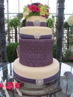 Purple Bling Bling Wedding Cake (from Purple Chocolate Home)