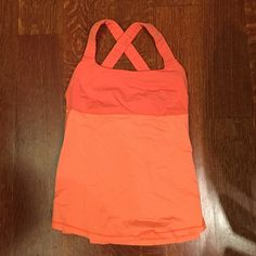 LULULEMON - Orange top Very lightly worn! Great top for working out ... Spinning, yoga, running! lululemon athletica Tops