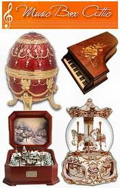 Collection of Music boxes. Beautiful  I love music boxes in almost all guises.  Much depends on what music they play, however.
