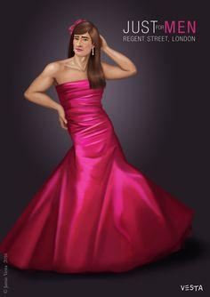 Just For Men Advert by Eves-Rib on DeviantArt Feminized Husband, Feminized Boys, Pretty Men, How To Look Pretty, Strapless Dress Formal, Prom Dresses, Formal Dresses, Men Wearing Dresses, Men Dress Up