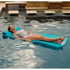 The Pool Mate Large Foam Mattress Pool Float supports an average adult. Made from soft, buoyant, closed-cell foam vinyl-coated for a long-lasting finish. Durable and easy-to-clean. 70 in. L x 26 in. Foam Pool Floats, Best Pool Floats, Pool Floats For Adults, Water Sports Store, Pool Mat, Aqua Pools, Marina Blue, Blue Pool, Water Party
