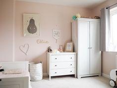 A pink Scandi inspired girls room
