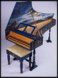 I want this is my music room. Piano Art, Piano Music, Painted Pianos, Renaissance, Old Pianos, Early Music, Baby Grand Pianos, Music Humor, Sound Of Music
