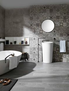 Tiles from porcelanosa behind the basin
