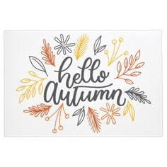 Shop Hello Autumn Fall Floral Typography Script Quote Mouse Pad created by PatternGallery. Hello Autumn, Autumn Fall, Autumn Ideas, Autumn Doodles, Flower Typography, Fall Drawings, Bullet Journal Inspiration, Bullet Journal Design Ideas, Fall Cards