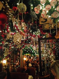 Christmas all year long at nyc bar and restaurant Rolph's German Restaurant