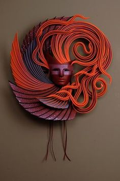 Leather Mask by Michael Taylor Tags: art, sculpture, leather, mask