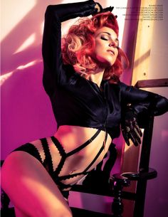 Bonnie McKee wearing Nichole de Carle London in the recent shoot for the Kode magazine