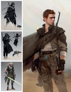 View an image titled 'Cal Kestis Concept Art' in our Star Wars Jedi: Fallen Order art gallery featuring official character designs, concept art, and promo pictures. Star Wars Fan Art, Star Wars Concept Art, Character Concept Art, Alien Concept, Images Star Wars, Star Wars Characters Pictures, Star Wars Pictures, Star Wars Jedi, Rpg Star Wars