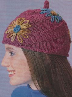 Free: Spiral Knit Hat Pattern