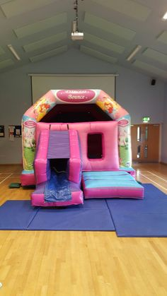 Princess bounce and slide bouncy castle avaliable for hire in Northampton. All little girls love a princess bouncy castle for there party and best of all this comes with a super slide to zip down. Size: 12ft x 17ft