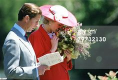 November 3, 1985: Prince Charles & Princess Diana who smells the flowers she has been given during a visit to the Royal Botanical Gardens in Melbourne, Australia. (Photo by Tim Graham/Getty Images)