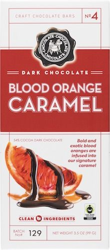 Dark Chocolate - No 4 - Dark Blood Orange Caramel Bar 3.5 OZ