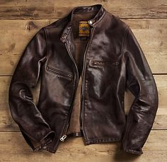 A brown leather jacket is one item that may top the look of a classic, black leather jacket. Enjoy a fashion inspired collection of brown leather jackets. Brown Leather Jacket Men, Vintage Leather Jacket, Leather Men, Leather Jackets, Custom Leather, Black Leather, Lightweight Leather Jacket, Distressed Leather Jacket, Biker Leather