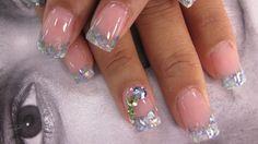 Crushed Sea Shell Nails | style nails magazine seashell nails design crushed sea shell nail