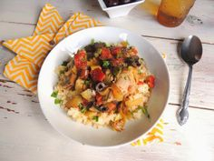 Mediterranean Crock Pot Chicken | Rice