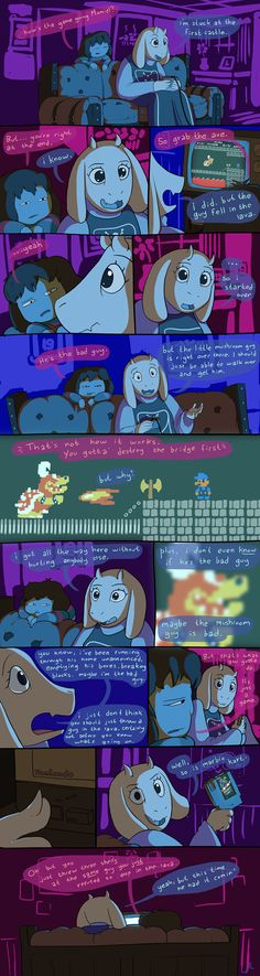 toriel, frisk, supermario, undertale --- this time he had it comin Undertale Undertale, Frisk, Pokemon, Toby Fox, Underswap, Just A Game, Nintendo, Best Games, Funny Comics