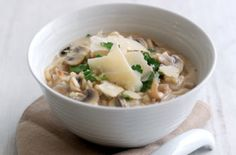 Mushroom risotto for one