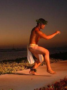 Male hula dancer - not Merrie Monarch but Kane hula nevertheless