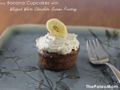 Banana Cupcakes (nut-free) with Whipped White Chocolate Sesame Frosting ~ The Paleo Mom