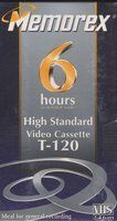 5-pack Hs T-120 Vhs Video Tape 6hr by Memorex. $12.37. 5 high standard VHS tapes. (5 Tapes inside the package)
