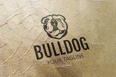 #Bulldog #logo #Template #animals #design