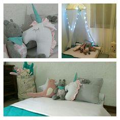 Um canto de conto de fadas    Desde o colchão sob medida até o chifrinho do unicórnio, tudo escolhido à dedo para o quarto da Maite   ☎️(11) 5546-0544   (11) 9.8408-1059   www.dipanopaulista.com.br   #quartodecrianca #quartodemenina #quartomontessoriano #quartomontessori #montessori #unicornio #teddybear #almofada #barraca #tenda #tendencia #cabana #crianca #quartodecorado #fashiondecor #tiffany #almofadas #projetospersonalizados #dipano #dipanopaulista #dipanopaulistaatelie