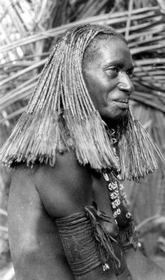 Papua (Indonesia) ~ Merauke regency | Portrait of a Marind woman | ca. 1925
