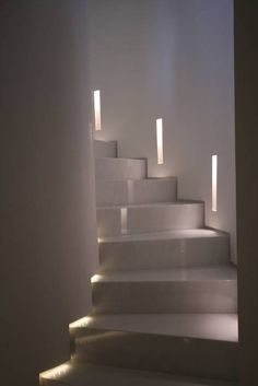 Treppen Hall, hallway & staircase by studiodonizelli The History And Evolution Of Banana Hybrids Ban Staircase Lighting Ideas, Stairway Lighting, Hall Lighting, Lighting Design, Lighting System, Basement Staircase, Open Staircase, Staircase Design, Interior Stairs