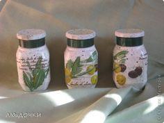 Декор предметов Декупаж Только банки Банки стеклянные Краска Салфетки фото 6