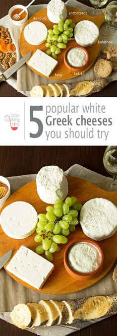 Five of the most popular Greek white cheeses. Expand your knowledge of Greek cuisine beyond feta and create a delicious cheese plate to impress your guests.