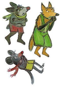 La moufle - marottes des personnages
