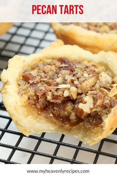 Who is ready to eat some of The Best Buttery Pecan Tarts you have ever had? These little buttery pecan tarts are perfect for bite-sized desserts or for a special occasion. Pecan Recipes, Coconut Recipes, Tart Recipes, Baking Recipes, Recipe For Pecan Tarts, Mini Pecan Tarts, Bite Size Desserts, Finger Food Desserts, Finger Foods