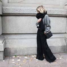 Wide leg wool trousers via D a m o y . E - s h o p. Click on the image to see more!