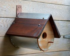 Birdhouse Teardrop Shape Unique and Rustic by royroadfishcompany