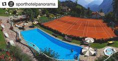 """In giardino giornata stupenda in relax! #trentinodavivere #sporthotelpanorama #trentino #trentinoaltoadige #wellness #wellnesshotel #benessere #benesserementale #tennis #tennistime #relax #piscinariscaldatatuttaunaltrastoria #piscina #schwimmbad #solebad #jacuzzi #jacuzzitime #abbronzatura #italy #sole #sonnenbad #beauty #beautyful #beautyfull""  #Repost @sporthotelpanorama"