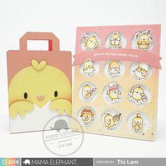 mama elephant stamps little chickie agenda Mama Elephant Stamps, Cute Chickens, Die Cut, Spring Projects, Diy Scrapbook, Scrapbooking, Elephant Design, Design Blog, Cool Cards