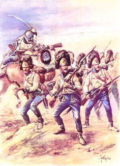 Le 5e Hussards à Austerlitz; illustration de J. Girbal extraite de l'ouvrage de…