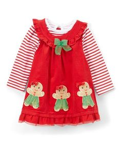 loving this red gingerbread lady jumper stripe bodysuit girls on find this pin and more on kids christmas clothes - Christmas Clothes For Kids