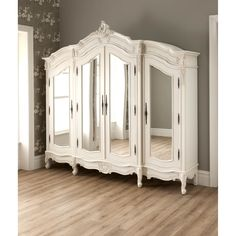 antique french style wardrobe armoire stylish bedroom furniture i … – creative ideas - Creative Project ideas Armoire Shabby Chic, Vintage Shabby Chic, Shabby Chic Furniture, Shabby Chic Decor, Rococo Furniture, Rustic Furniture, Reproduction Furniture, Upcycled Furniture, French Vintage