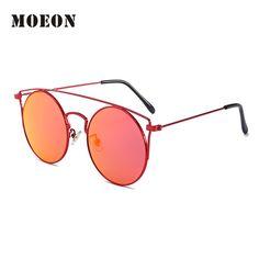 2017 popular steampunk round sunglasses for women alloy frame silver red green black shiny eyewears street wearing sun glass c62