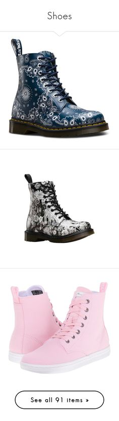 """Shoes"" by indigolotus97 ❤ liked on Polyvore featuring shoes, boots, dr martens boots, paisley boots, paisley shoes, dr. martens, leather boots, casual, black combat boots and floral boots"