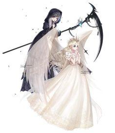 Stygian Death and Sanctity Angel Gothic Anime, Anime Fantasy, Fantasy Art, Manga Girl, Anime Art Girl, Anime Chibi, Manga Anime, Demon Manga, Anime Sisters