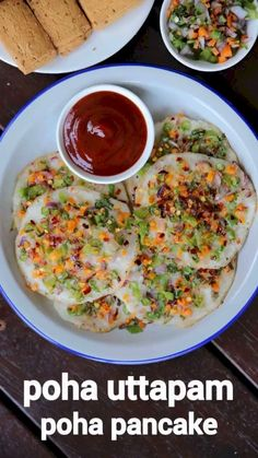 poha uttapam recipe, instant poha uttapa, poha pancake recipe with step by step photo/video. instant breakfast with flattened rice batter & veg toppings. Veg Recipes, Spicy Recipes, Vegetarian Recipes, Cooking Recipes, Healthy Recipes, Urad Dal Recipes, Indian Vegetable Recipes, Pancake Recipes, Cuban Recipes