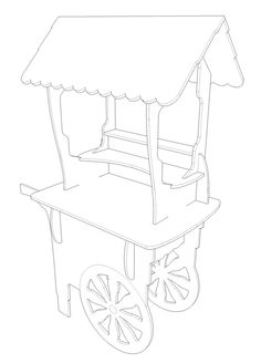 Wedding Cart Events Birthday Sweets Candy Ice Cream Stall