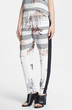 Tibi 'Sierra Mesh' Print Silk Pants available at #Nordstrom