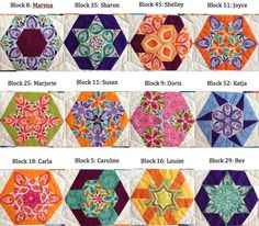 52 new ways to sew a hexagon quilt (+ giveaway English paper piecing blocks from The New Hexagon Motif Hexagonal, Hexagon Pattern, Hexagon Quilt, Pattern Design, English Paper Piecing, Paper Piecing Patterns, Quilt Patterns, Millefiori Quilts, Kaleidoscope Quilt